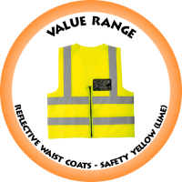 Reflective Waist Coat - Safety Yellow (Lime)