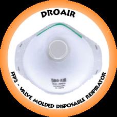 DroAir FFP2 Valve Molded Disposable Respirator - 1021