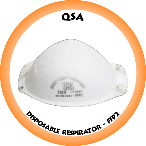 QSA FFP2 Disposable Respirator - 2020 Box of 20 (Contact us for availability)