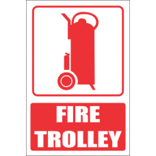 FB14E - Fire Trolley Explanatory Safety Sign