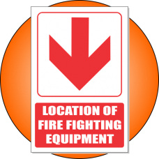 FB1EB - Location of Fire Fighting Equipment Below Explanatory Safety Sign