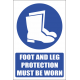 MV6E - Foot and Leg Protection Explanatory Safety Sign
