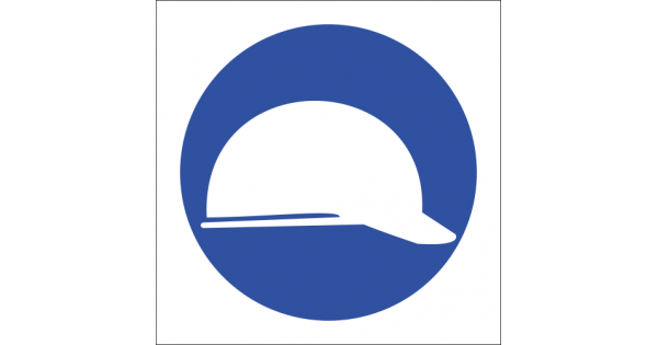 mv3 head protection safety sign