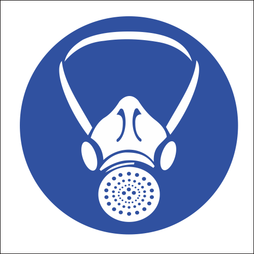 mv2 respiratory protection safety sign