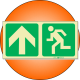 PLE10 - Escape Route Up Photoluminescent (Glow-In-The-Dark) Safety Sign