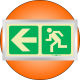 PLE2FS - Framed (Single Sided) Escape Route Left Photoluminescent (Glow-In-The-Dark) Safety Sign