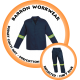 CS-BR BARRON Budget Conti Suit c/w Reflective tape - Polycotton - Navy