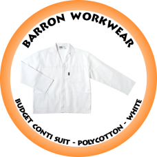 CS-BPC BARRON Budget Conti Suit - Polycotton - White