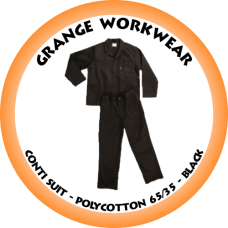 GRANGE Conti Suit Polycotton 65/35 Black - PC0613